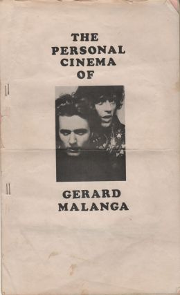 THE PERSONAL CINEMA OF GERARD MALANGA [Cover Title]. GERARD MALANGA / PROGRAM NOTES [Title Page