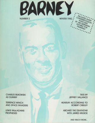 BARNEY: THE MODERN STONE AGE MAGAZINE #2 – WINTER 1982. Jack SKELLEY, Terence Winch Charles...