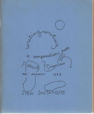 WRITING WRITING A COMPOSITION BOOK FOR MADISON, 1953: Stein Imitations