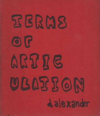 TERMS OF ARTICULATION. D. ALEXANDER
