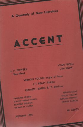 ACCENT: A Quarterly of New Literature - Vol. 15 No. 4 - Autumn 1955