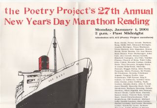 THE POETRY PROJECT'S 27TH ANNUAL NEW YEAR'S DAY MARATHON READING [Promo Poster