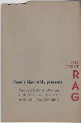"DIANA'S BIMONTHLY - Vol. 1 No. 1 - Feburary 1972: ""The First Rag"" Tom AHERN"