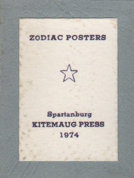 ZODIAC POSTERS. Miniature Books, Printer, Frank J. ANDERSON