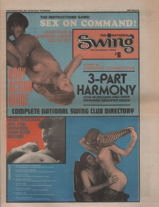 THE NATIONAL SWING: For The Sexually Aware - No. 6