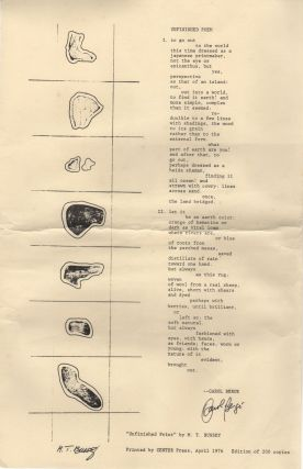 UNFINISHED POEM [Broadside]. Carol BERGE, M T. Bussey