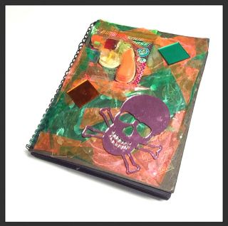 Original Handmade Artist's Book of Collages & Assemblages