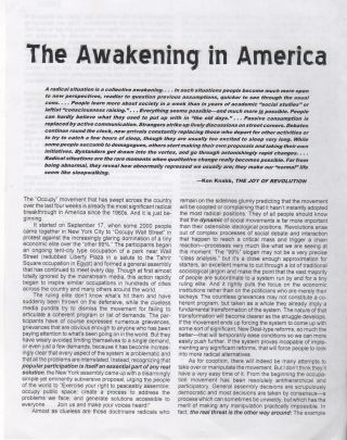 THE AWAKENING IN AMERICA
