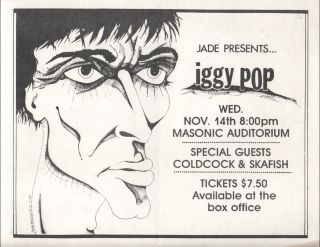 JADE PRESENTS ... IGGY POP [Concert Flyer