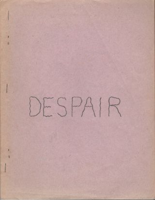 DESPAIR: Poems to Come Down By