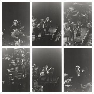 Set of Original Photos of a Bob Dylan & The Band Concert