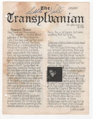 THE TRANSYLVANIAN [Five Issues, Plus One Signed by Nell Campbell