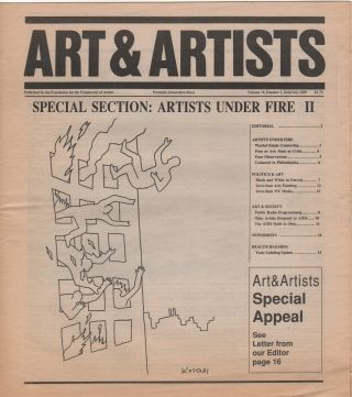 ART WORKERS NEWSLETTER / ART WORKERS' NEWS / ART & ARTISTS [66 Issues, Spanning Length of...