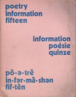 POETRY INFORMATION - Number 15 - Summer 1976