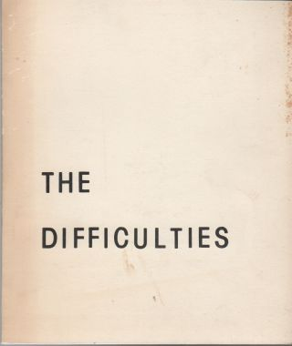 THE DIFFICULTIES - No. 1