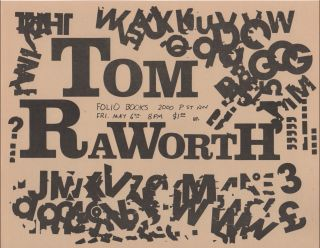 Flyer for a Reading by Tom Raworth at Folio Books, D.C