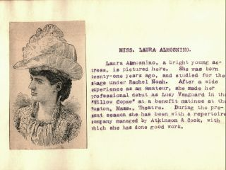 THEATRICAL BIOGRAPHIES [Spine Title; Fan Scrapbook of Late 19th Century Actors and Athletes]