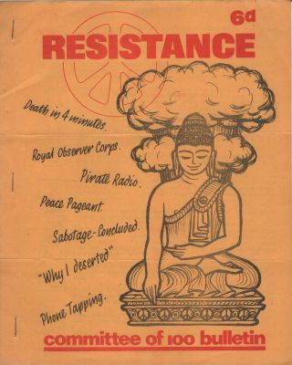 RESISTANCE: Bulletin of the Committee of 100 - Vol. 2 No. 11 - November 1964. Anti-Nuclear, Civil...