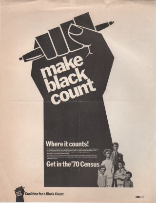 MAKE BLACK COUNT [...] Get in the '70 Census [Flyer