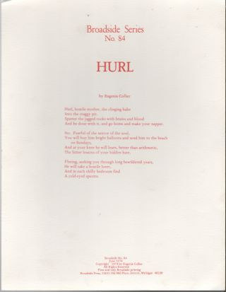 HURL (Broadside Series No. 84