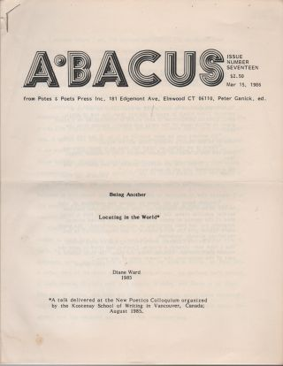 ABACUS - Issue Number Seventeen
