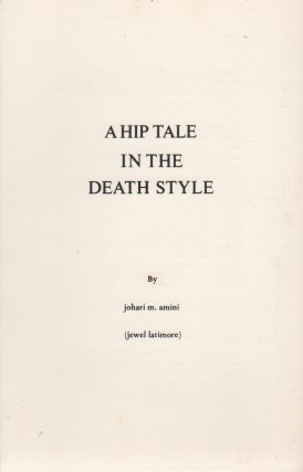 A HIP TALE IN THE DEATH STYLE (Broadside No. 59