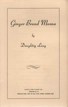 GINGER BREAD MAMA (Broadside No. 32