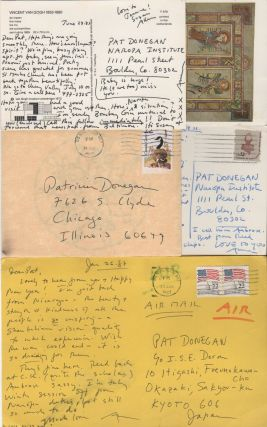 Collection of Letters and Postcards to Poet Patricia Donegan