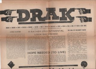 "DRAK [Promotional Newspaper For the Play ""Circus Unikum"""