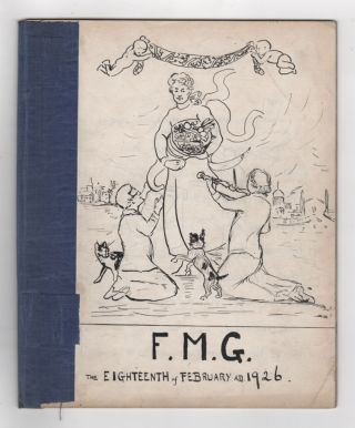 [Four Handmade journals from the 1920s Presented to Florence Mary Winckworth Gunn (1857-1928)]