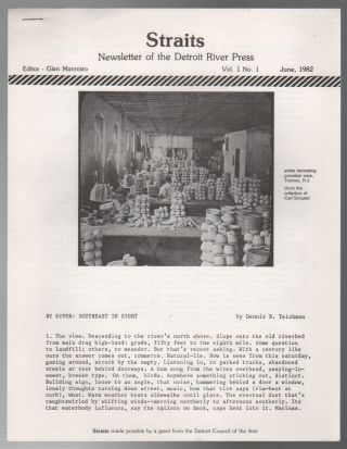STRAITS: Newsletter of the Detroit River Press - Vol. 1 No. 1 - June 1982