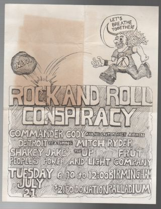 ROCK AND ROLL CONSPIRACY [CONCERT FLYER