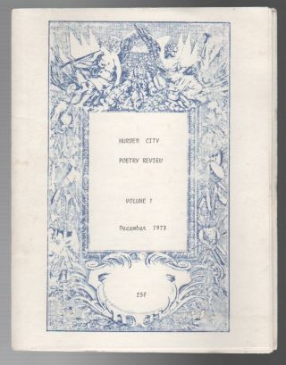 MURDER CITY POETRY REVIEW VOLUME 1: December 1973