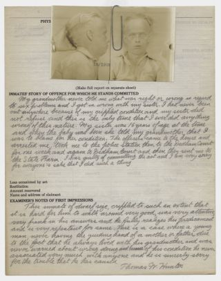 [Archive of Parole Documents, Mug Shots of Defective Delinquent Prisoners]