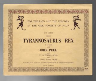 FOR THE LION AND THE UNICORN IN THE OAK FORESTS OF FAUN: Roy Guest Presents Tyrannosaurus Rex in...