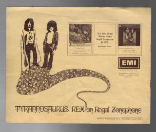 FOR THE LION AND THE UNICORN IN THE OAK FORESTS OF FAUN: Roy Guest Presents Tyrannosaurus Rex in Concert with John Peel and Vytas Serelis - Sitar and David Bowie - Mime
