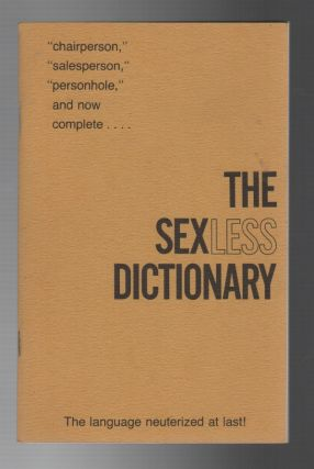 THE SEXLESS DICTIONARY
