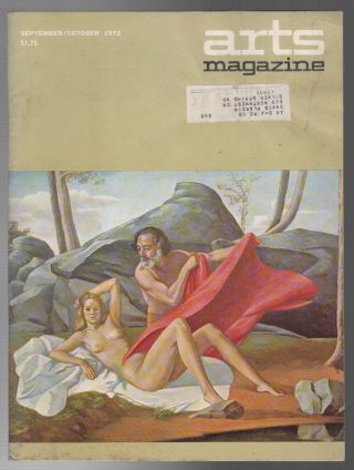 ARTS MAGAZINE: September/October 1972 / Volume 47 No. 1