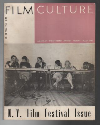 FILM CULTURE No. 42 / Fall 1966: N.Y. Film Festival Issue