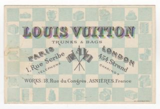 Nineteenth Century Louis Vuitton Trade Card