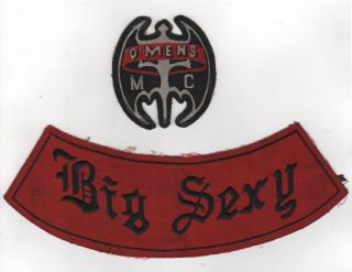 'O'Mens Motorcycle Club Patches]. African-Americana, Motorcycles