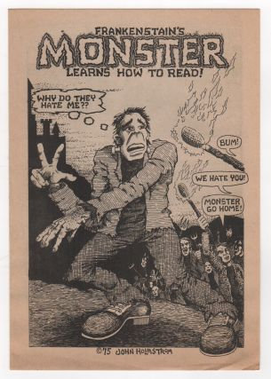 FRANKENSTAIN'S MONSTER LEARNS HOW TO READ [Cover Title]. John HOLMSTROM
