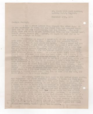 Archive of Letters to Evacuated Children in World War II