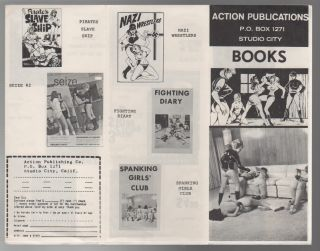 ACTION PUBLICATIONS BOOKS [Catalog of Erotic Literature]. Action Publications