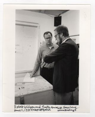 Photograph of Theater Director Robert Wilson by Allen Ginsberg