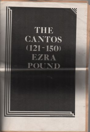 UNMUZZLED OX MAGAZINE - #23: The Cantos (121-150) Ezra Pound. Michael ANDRE