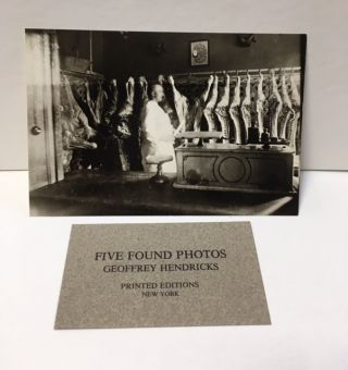 FIVE FOUND PHOTOS. Geoffrey HENDRICKS