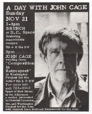 John Cage Tribute Archive / 9th Street Festival 1982