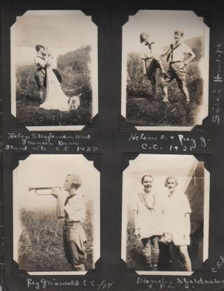 Girl Scout Camp Photo Album 1926-1929]. Scouting, Girls