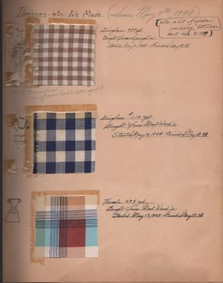 DRESSES I'VE MADE (Since May 9th, 1948) [Dressmaking Scrapbook